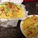 (1) order of chicken supreme nachos, enough for two!