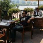 Drinking prosecco in the sun