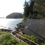 Vista da cabana e do sound