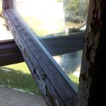 Fenêtre fraichement repeinte