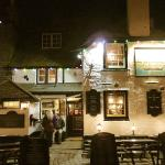 Front of Sloop Inn, St Ives at night