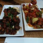 gobi manchurian and chilli chicken