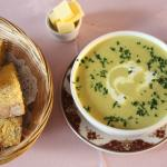 Courgette & Mint Soup with Pumpkin Bread