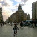 L hotel Pelayo visto dalla piazza