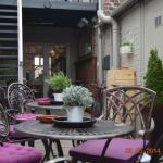 Our secluded courtyard