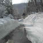 Walking up to the ski fields