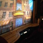 "Our view from left side ""box"" seats at a mere $35 each for a Broadway show. Don't be afraid to a"