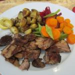 Pork - delicious potatoes and vegetables