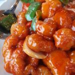 FANTASTIC sweet and sour chicken with pineapple and peppers