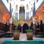 The Riad Khabia's patio.