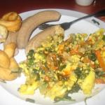 Ackee and Salt Fish w/ Calloulou