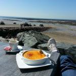 Une si belle vue pour un dessert et un café