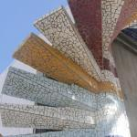 mosaic stairs outside made by Mauricio Cobo