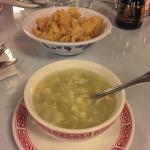 Wontons and egg drop soup