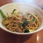 Soba style noodles are available.