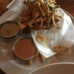 Zucchini… With peppercorn ranch dip and smoked tomato aioli dip. Very good