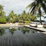 Pool area--watch out for uneven deck planks, can stick splinters in your barefoot!