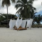 Heavenly lounge bed on beach!  Great for watching sunsets!