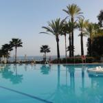 Main pool with a view of the beach