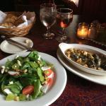 Salad Du Marche and escargots at Chez Nous