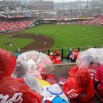 The rain didn't dampen spirits
