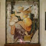 Reproduction de la 'Sibilla libica' de Michel-Ange en mosaïque florentine