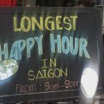 Longest happy hour.