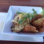 Bugs and prawns in satay sauce