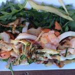 Calamari, prawns and scallop in a burnt butter sauce