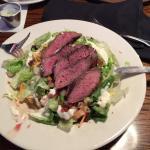 Sirloin steak on salad