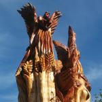The 'Angel of Fenor' carved by local chainsaw artist John Hayes from a storm damaged tree.