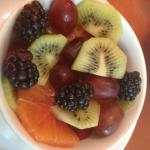 Breakfast starts with fresh fruit