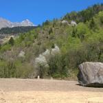 masso nella stretta valle della cascata di Parcines