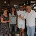 Août 2013, avec Gabriella et Mario
