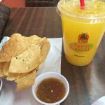 Juice and free chips