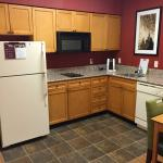 Kitchen in the one bedroom suite