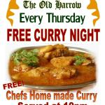 Free Curry night every Thursday
