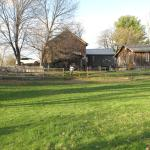 pasture with work barn, stable and cottage behind