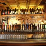 Lots of craft beer on tap