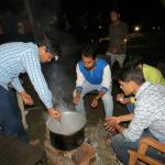 Students engaged in cooking - boys