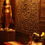 the Buddha image at the entrance.