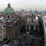 Костел Св.Сальватора на Кржижовницкой площади. Вид со Староместской мостовой башни