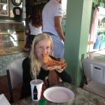 Kirra is a fussy eater and hadnt eaten much on our vacation, she really enjoyed this pizza.