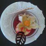 dessert de framboises