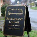 Sign to the Castle Key inside