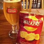 A crisp pint of Stella and Bacon flavoured Crisps; things missed by an Expat.