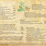 Faerie tree Menu