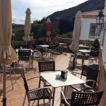Nuestra terraza interior con vistas a Gibraltar y África