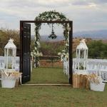 The stunning view and set up thanks to Tamonika Events