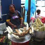 A street vendor in Durban